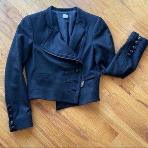 J. Crew cropped wool military jacket